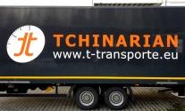 Folienbeschriftung eines Lkw für Tchinarian aus Stuttgart