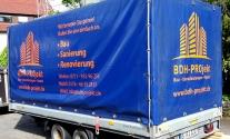 Planenbeschriftung für die Firma BDH Projekt aus Stuttgart