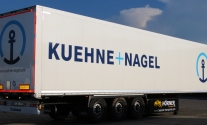 Aufliegerbeklebung für die Firma Kühne+Nagel aus Ludwigsburg