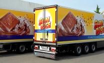 Auflieger-Vollfolierung für Rübezahl Schokoladen GmbH aus Dettingen