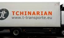 Lkw-Beklebung für die Fa. Tchinarian Transporte GmbH aus Ludwigsburg