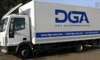 Lkw-Beschriftung den Kunden DGA Autovermietung aus Karlsruhe