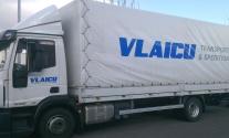 Planenbeschriftung für die Firma Vlaicu Transporte aus Ludwigsburg