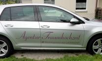 Autobeschriftung für die Agentur Traumhochzeit aus Esslingen
