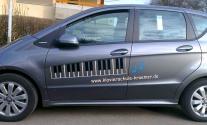 Neue Fahrzeugbeschriftung für die Klavierschule aus Filderstadt