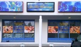 Schaufensterbeklebung im Digitaldruck für Gui Mai in Stuttgart