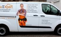Fahrzeugbeschriftung im Digitaldruck für BauExpert aus Leonberg