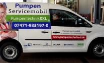 Die neue Fahrzeugbeschriftung für Pumpentechnik XXL aus Hechingen