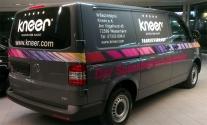 Fahrzeugbeschriftung für den Kunden Kneer GmbH aus Westerheim