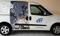 Fahrzeugbeschriftung für die Firma LST aus Schwäbisch Gmünd