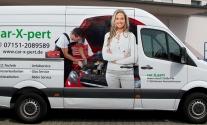Transporterbeschriftung für die Firma car-X-pert aus Waiblingen
