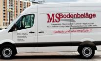 Transporterbeschriftung für die Firma MS Bodenbeläge aus Stuttgart