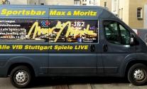 Transporterfolierung im Digitaldruck für Spartsbar in Stuttgart