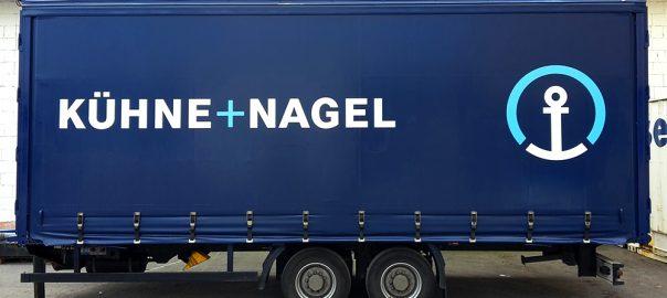 Anhängerbeschriftung für Kühne+Nagel in Stuttgart