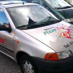 Autobeschriftung im Folienplott für Lieferservice aus Esslingen