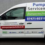 Fahrzeugbeschriftung für Pumpentechnik XXL aus Hechingen