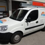 Werbewirksame Fahrzeugwerbung für GuT Sanitär aus Esslingen