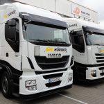 Flottenbeschriftung der Firma Hörner Transporte aus Ludwigsburg