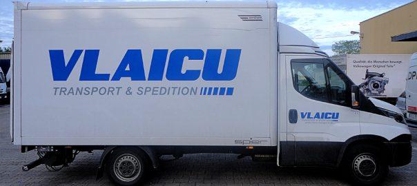 Lkw-Beschriftung für unseren Großkunden Vlaicu aus Ludwigsburg