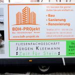 Anhängerbeschriftung für die Firma BDH Projekt aus Stuttgart