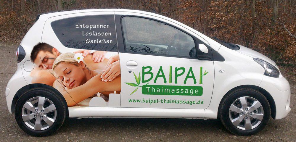 Autofolierung für den Kunden Baipai Thaimassage aus Esslingen