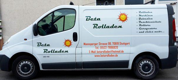 Busbeschriftung für unseren Kunden Beta Rolladen aus Stuttgart