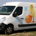 Fahrzeugbeschriftung für den Geflügelhof Ludwig GmbH aus Waiblingen