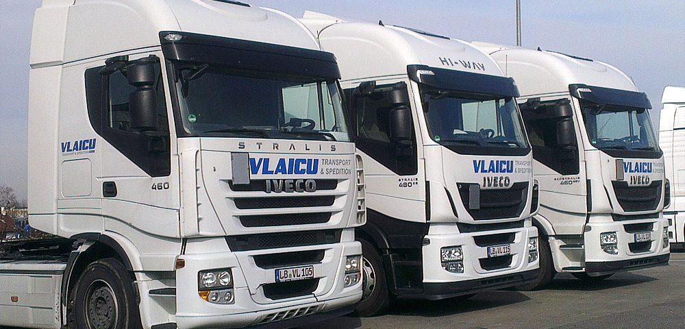 Flottenbeschriftung für Vlaicu Transporte aus Ludwigsburg