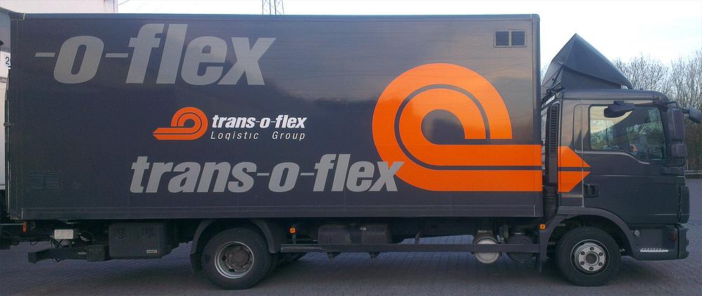 Kastenwagenbeschriftung für die Firma Trans-o-flex aus Stuttgart