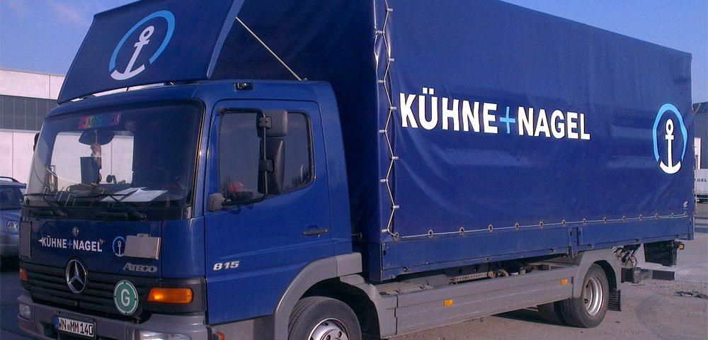 Lkw-Beschriftung unseren Großkunden Kühne+Nagel aus Stuttgart