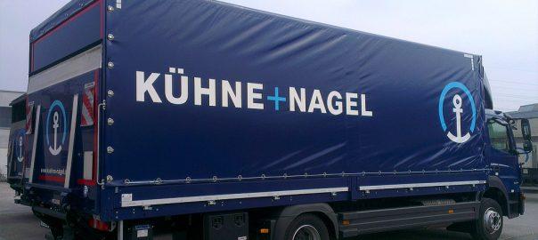 Planenbeschriftung für die Firma Kühne+Nagel aus Stuttgart