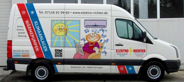 Transporterbeschriftung für Elektro Richter GmbH aus Renningen