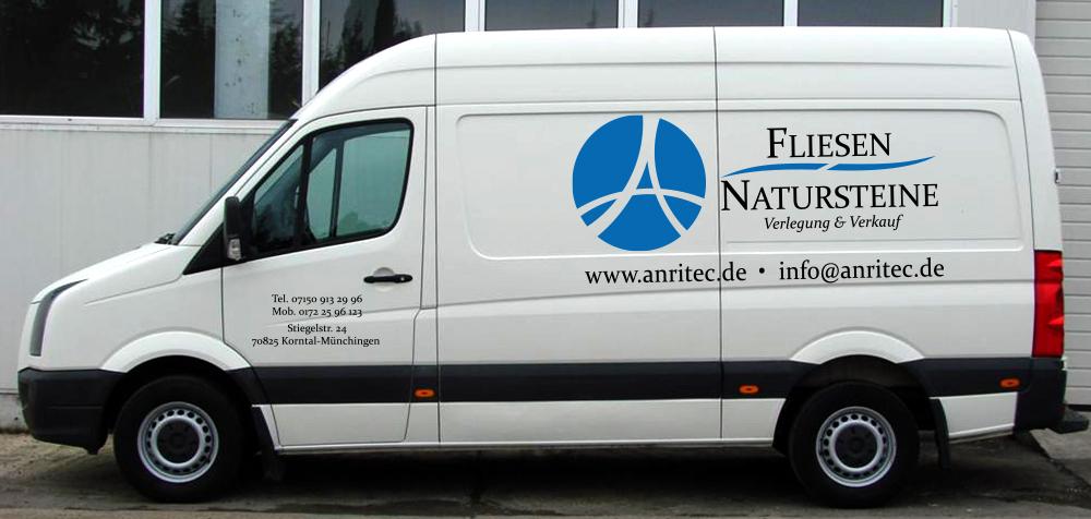 Fahrzeugbeschriftung für unseren Kunden Anritec GmbH aus Stuttgart