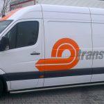 Transporterbeschriftung für die Firma Trans-o-flex aus Ludwigsburg